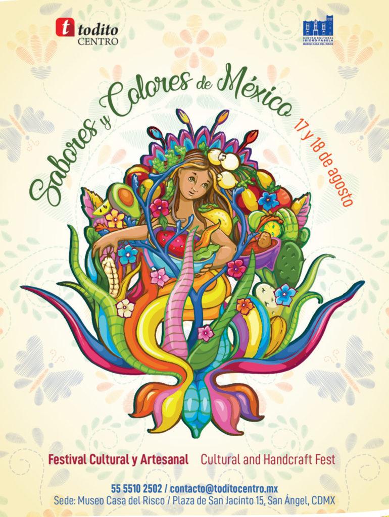 ¡Los esperamos en esta fiesta de sabor y color!  17 y 18 de agosto, 10 am a 5 pm Entrada Libre Plaza de San Jacinto 15, San Ángel, Ciudad de México.  Informes: 5555102502 / contacto@toditocentro.mx
